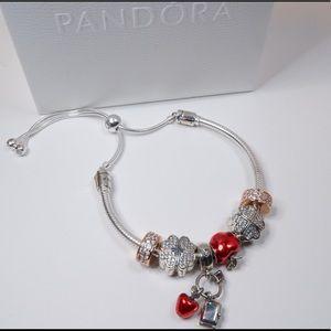 Pandora Red Apple Bracelet